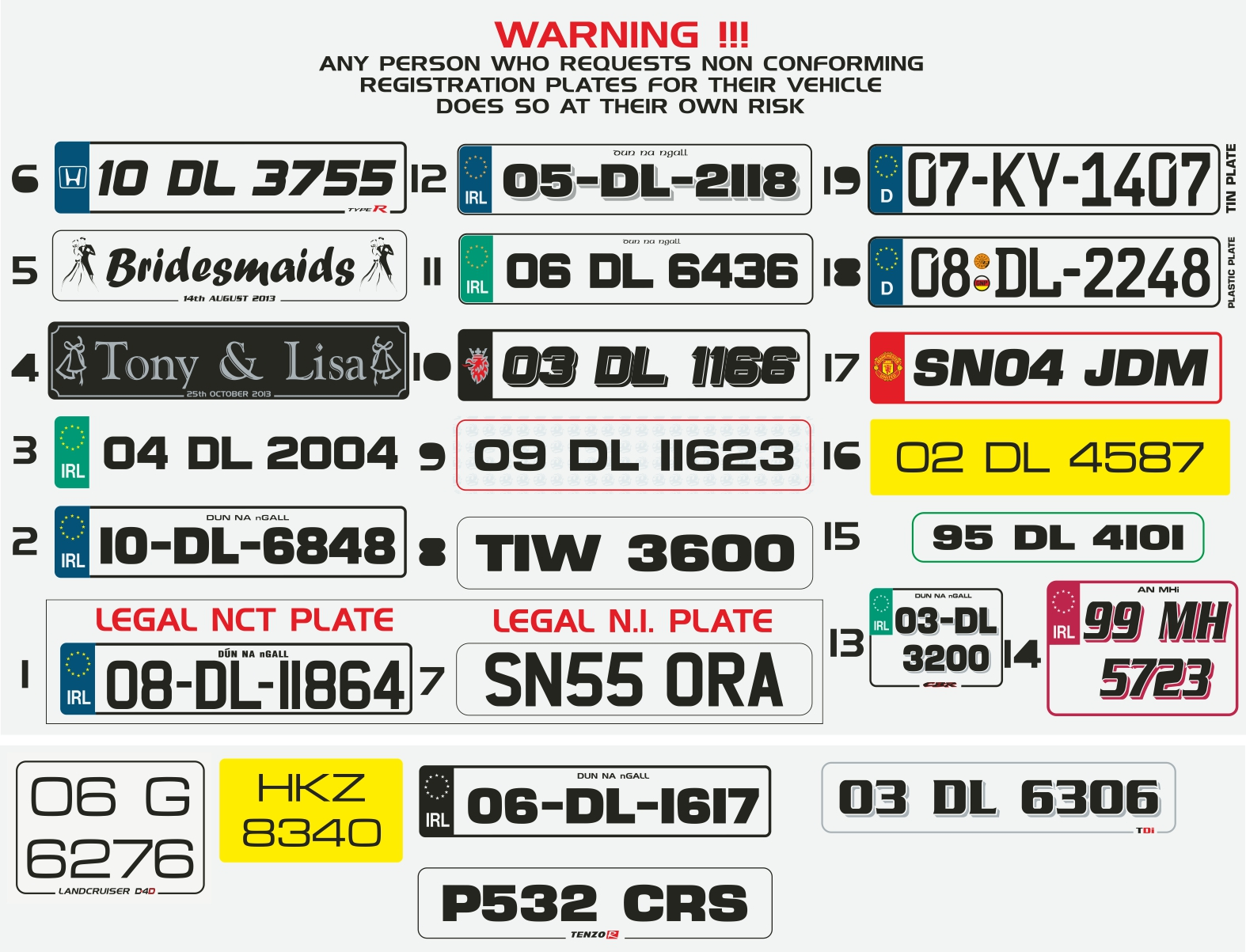 how to find a number plate